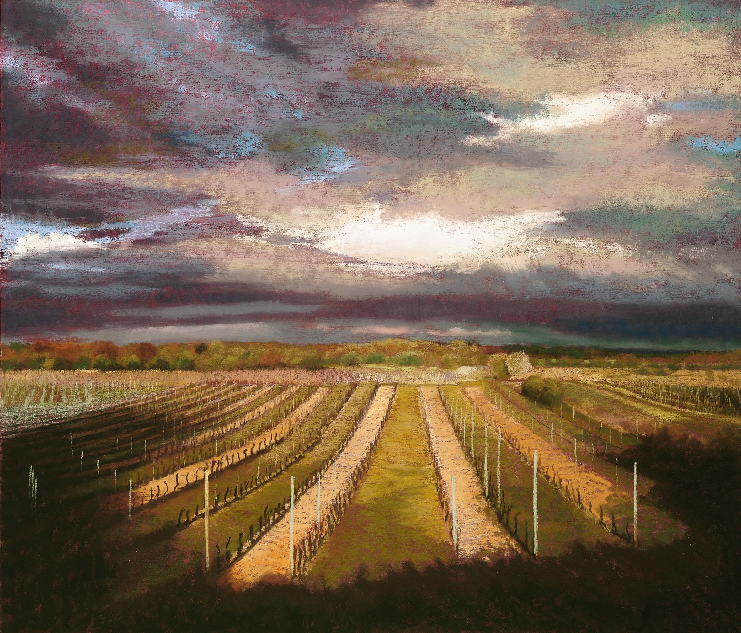 Hommage an Rheinhessen No. 20, Pastell, 61 x 70 cm, 2011