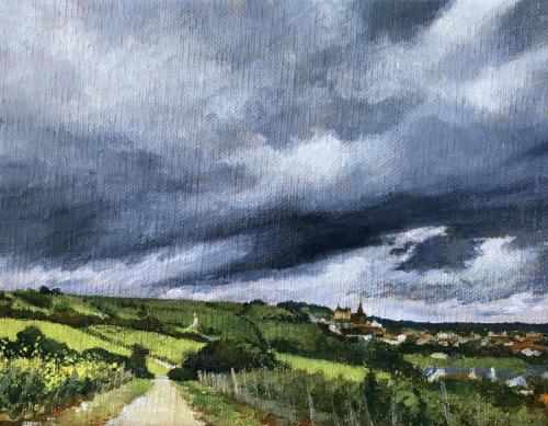 12-6, AcrylLW, 14 x 18 cm, 2020